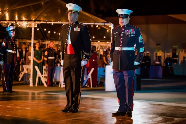 Guest of Honor, GySgt Isaac Gallegos, Military Events, Military Birthday Ball
